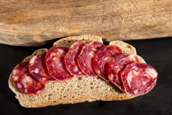 Salsiccia di Calabria DOP a fettine